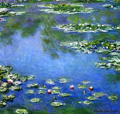 Water Lilies by Claude Monet Giclee Fine Art Print Reproduction on Canvas