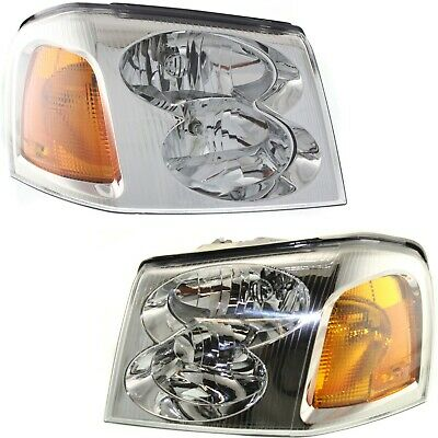 Headlight Set For 2002-2009 GMC Envoy 2002-2006 Envoy XL LH RH w bulb
