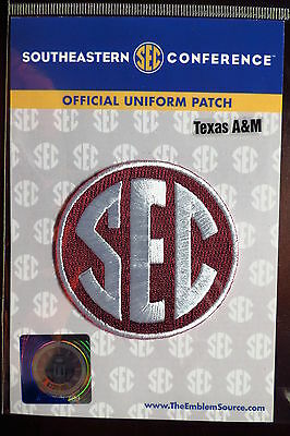 Official Licensed NCAA College Football Texas A-M SEC Conference Patch