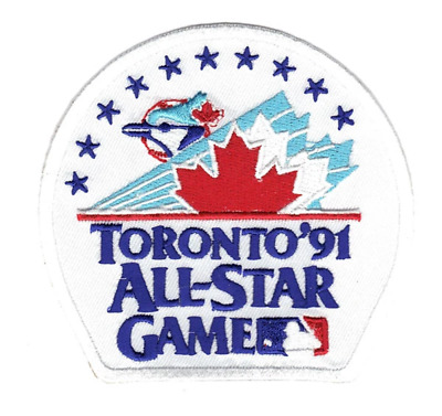 1991 MLB Baseball All Star Game In Toronto Blue Jays Skydome Jersey Patch Canada