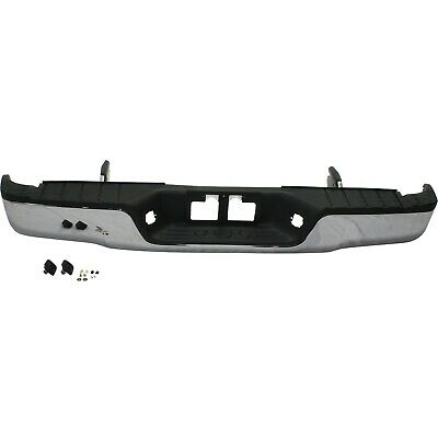 NEW Chrome - Complete Steel Rear Bumper W Hardware For 2007-2013 Toyota Tundra