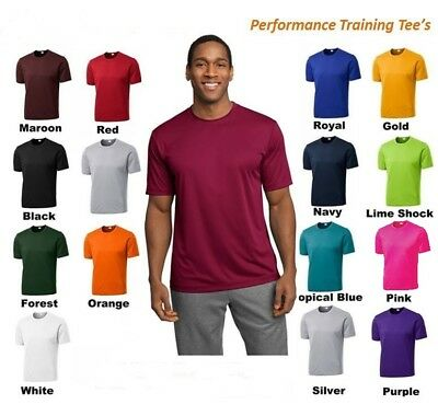 MENS MOISTURE WICKING DRY FIT SPORT-TEK Short Sleeve T-SHIRT NEW XS-4XL ST350