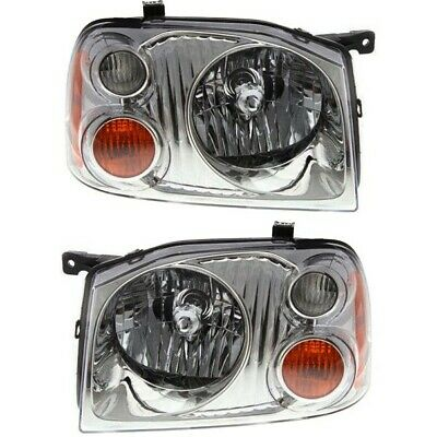 Headlight Set For 2001-2004 Nissan Frontier Base XE Left - Right 2Pc