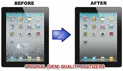 Apple iPad 2nd 3 4 Digitizer Glass Screen Replacement Repair Service LABOR