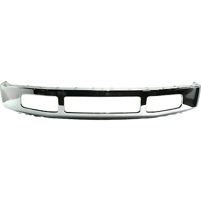 Front Bumper For 2008-2010 Ford F-250 Super Duty w Moulding Pad Holes Chrome