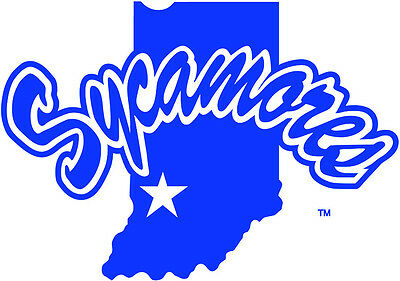 Indiana State Sycamores NCAA Color Die-Cut Decal  Car Sticker Free Shipping