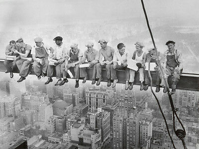 Lunch Atop a Skyscraper c-1932 Art Print By Charles C- Ebbets - 24x18
