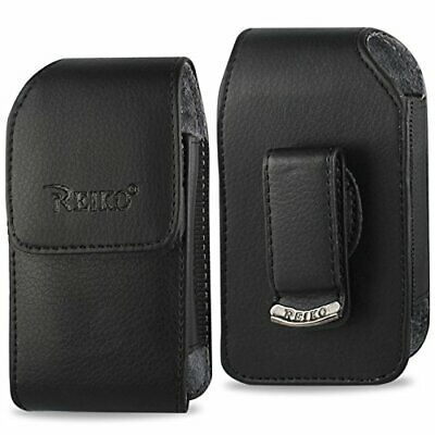 Vertical Leather Case for  Consumer Cellular Doro PhoneEasy 626 -