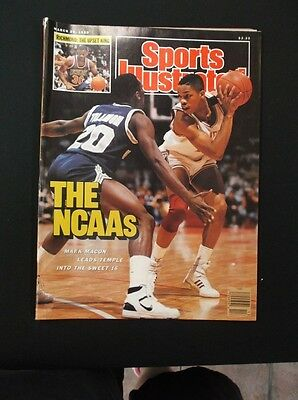 Sports Illustrated MARK MACON NCAA Sweet 16 March 28 1988 Newsstand No LabelD6