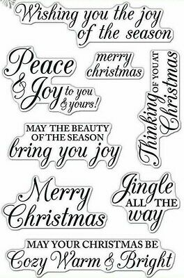 Merry Christmas Message Poly Clear Acrylic Stamp Set by Hero Arts Stamps CL722