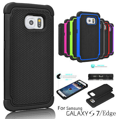 Armor Shockproof Rugged Rubber Hard Case Cover for Samsung Galaxy S7 / S7 Edge