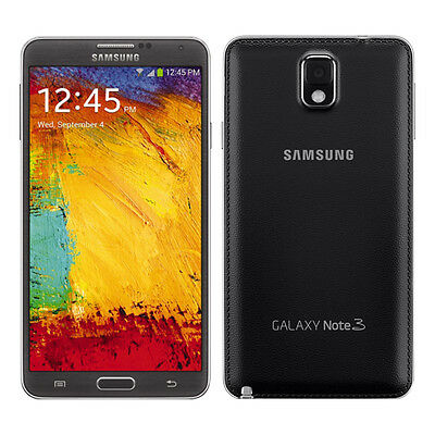 New Samsung N900A Note 3 AT-T Unlocked 4G LTE GSM 32GB Android SmartPhone Blk