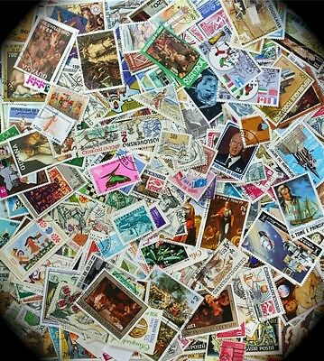 Worldwide Medium to Large Stamps only by the 100s from our Million WW Stock
