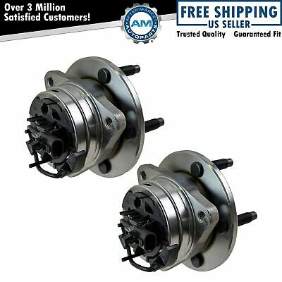 Front Wheel Hub - Bearing Pair Set for Malibu Aura G6 w ABS 5 Lug
