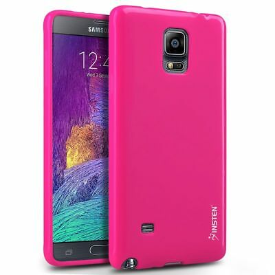 Pink Hybrid Shockproof Hard Case Cover Skin Stand For Samsung Galaxy Note 4
