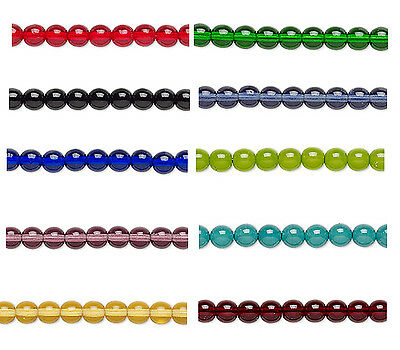 20 Czech Glass Round Beads 6MM    Assorted Colors