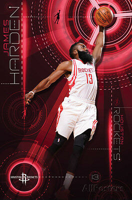 Houston Rockets - James Harden 2015 Poster Print 22x34