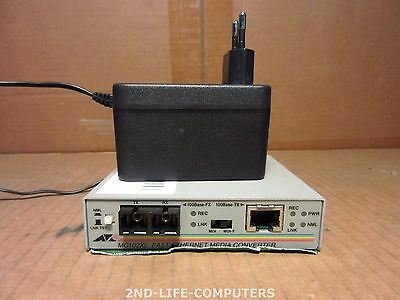 Allied Telesyn Telesis AT-MC102XL 100TX to 100 FX SC Media Converter INCL PSU