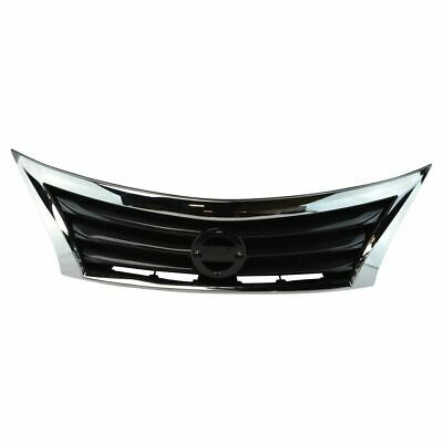 Front Upper Bumper Mounted Grille Black - Chrome Surrounding for Nissan Altima