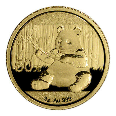 2017 China Gold Panda 3 g 50 Yuan - BU - Mint Sealed