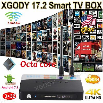 XGODY 3-32GB Octa Core Smart TV BOX S912 Android 6-0 New 17-0 4K HDMI Dual Wifi