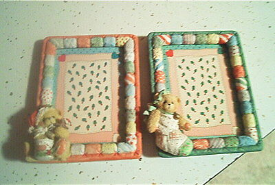 Lof of 2 Cherished Teddies Christmas Picture Frames  3 x 5