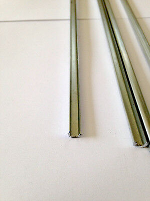 4  18 inch Zinc U Came Channel 12-12 Strips To Frame Glass Project