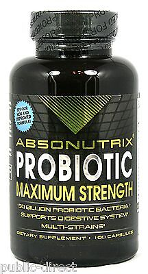 Absonutrix Probiotic Acidophilus 50 Billion 100 Capsule Immune Support Pill