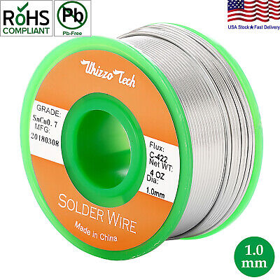 Lead Free Solder Wire Sn99-3 Cu0-7 with Rosin Core for Electronic 100g3-5oz 1mm