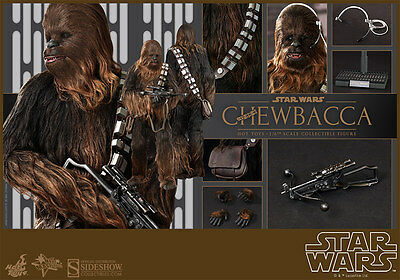 Hot Toys Star Wars Chewbacca 16 Scale Figure A New Hope Sideshow Wookiee New