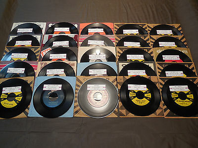 Vintage 45 RPM Lot of 25- 7 Records 45s Juke-Box  Title Strips OldiesHits