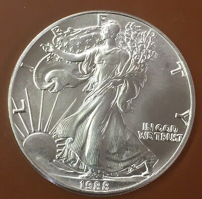 1988 American Silver Eagle - MS UNC BU Uncirculated - Combined Shipping 10