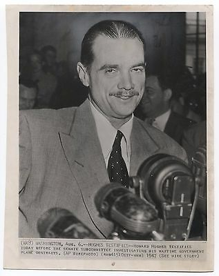Howard Hughes Original 7 x 9 Inch Photograph From 1947 Vintage Photo