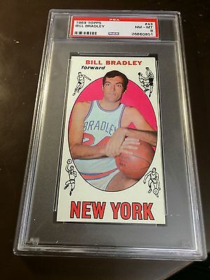 1969 TOPPS BASKETBALL BILL BRADLEY 43 PSA 8 NM-MT RC