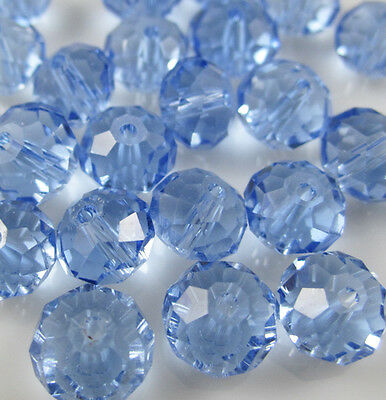 NEW Jewelry Faceted 100 pcs Light Blue 5040 3x4mm Roundelle Crystal Beads A4