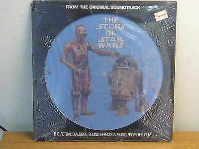 Star Wars The Story Of Star Wars  Rare 12 Picture Disc LP Music dialogue Sealed