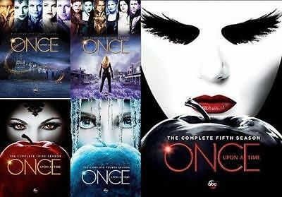 Once Upon a Time Complete Seasons 1-5 DVD 1 2 3 4 5 Bundle new