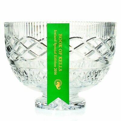 Waterford Crystal Book of Kells 8-75 Hand-Crafted Irish-Cut Bowl see notes