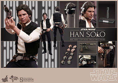 Hot Toys Star Wars Han Solo 16 Scale Figure New Hope Harrison Ford Sideshow