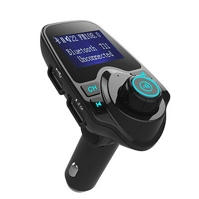 Bluetooth FM transmitter Adapter Dual USB charger for Car Stereo Radios Speakers