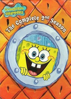 SPONGEBOB SQUAREPANTS COMPLETE SEASON 2 New Sealed 3 DVD Set