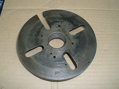 6 Dog drive face plate with 1 12-8 threaded back