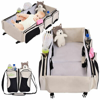 3 in 1 Portable Infant Baby Bassinet Diaper Bag Changing Station Nappy Travel