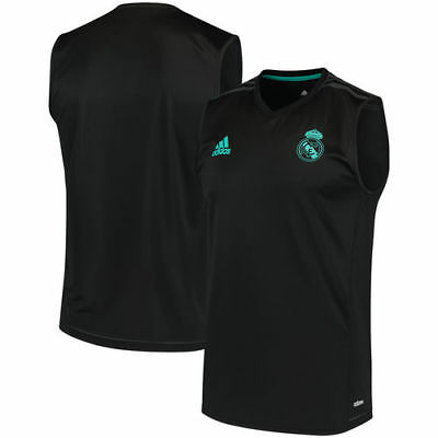 Real Madrid adidas 201718 Sleeveless Training Jersey - Black
