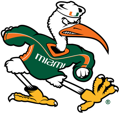 Miami Hurricanes NCAA Color Die-Cut Decal  Sticker Free Shipping