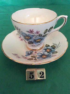 DELPHINE BONE CHINA MADE IN ENGLAND CUP - SAUCER