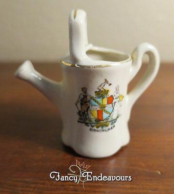 Clays England Souvenir Crested China Watering Can Birmingham