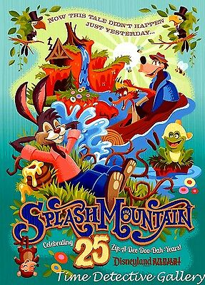 Disneyland Splash Mountain 25th Anniversary Poster - Available in 4 Sizes