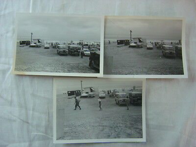 Lot of 3 Vintage Car Photos Land Rover 4x4 in Parking Lot 791203