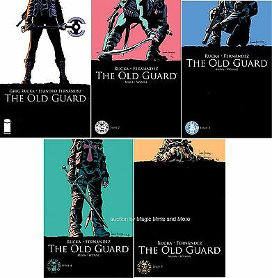 THE OLD GUARD 5 Issue Run 1 2 3 4 5 iMAGE 1st print comic set lot